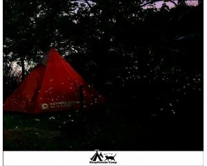 帐篷露营山上赏萤火虫和桐花早上看云海