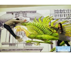 卫民街地下道新生诞生全台第一条3D立体壁画