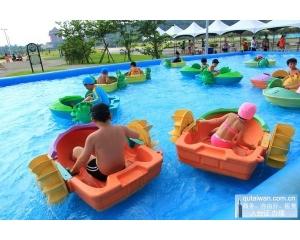 大佳河滨公园7月4、5日试营运期间,开放民众进场免费戏水