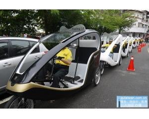 乘坐德国的金龟三轮车慢游南投埔里私房景点