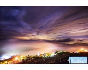 阿里山风景区的隙顶二延平步道以及顶石棹步道云海美如画
