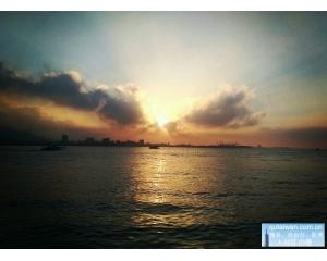 淡水新景点海关码头成为看夕阳热门地点