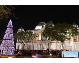 庆祝2015圣诞节台南整个城市就被五彩灯光点亮