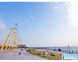 风车公园旗津是高雄第一座观光、休闲兼环保的