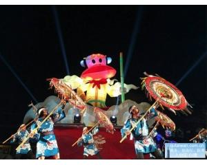 中台湾灯会添国际风日本鸟取县因幡伞舞交流演出